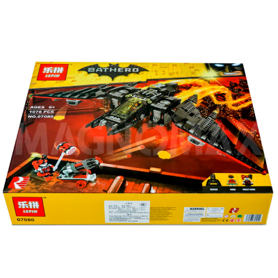 Конструктор Lepin 07080 / Batman Movie Бэтмолёт (ЛЕГО 70916, 1068 дет.) - 2